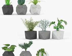 Concrete Plant Set 3D model
