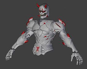 3D Model of Genji Oni Skin Armor from Overwatch