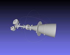 Small Electric Methane Rocket Engine Concept Printable 1