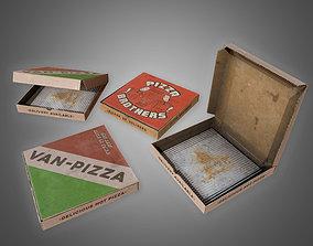 Pizza Box Set - PBR Game Set 3D model