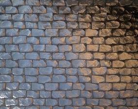 3D asset game-ready Rock Pavement