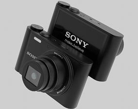 3D model Low-poly Photorealistic sony camera