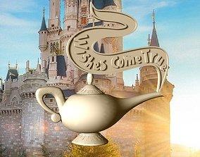 Aladdin lamp wishes come true 3D printable model