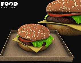 Cheeseburger classic mesh 3D model