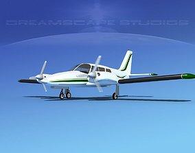 3D Piper PA-34 Seneca V03