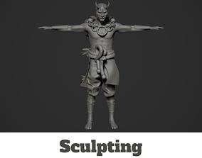 3D Oni Sculpt High poly