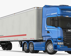 3D Scania Streamline Trailer Truck Rigged