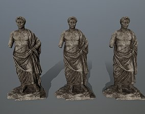 3D model game-ready statue 5 cesare