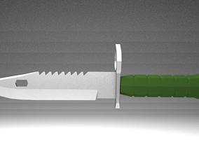 3D print model 1208 tris Bayonet Knife