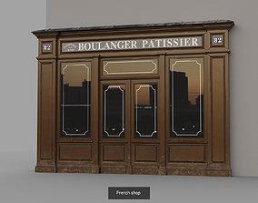 Paris architectural parts 3D model low