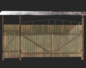 3D model Wooden gate