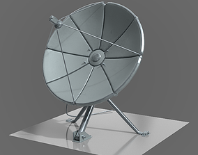 satellite dish exterior 3D model