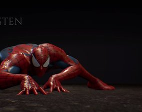 3D model Spiderman Rigged Maya Scene - 178 Animation MoCAP