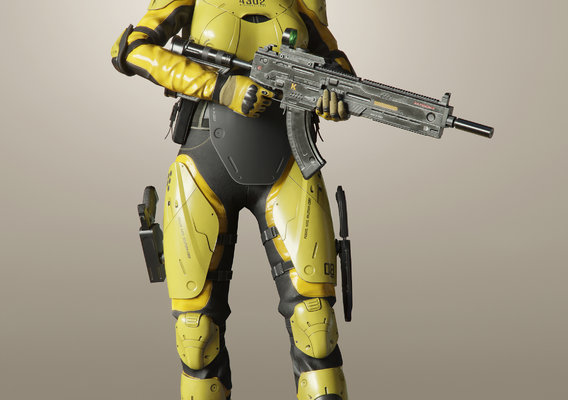 FVX500 Woman Soldier
