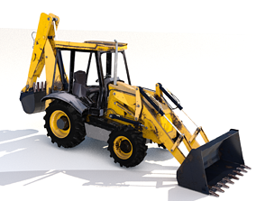 JCB Digger 3D model