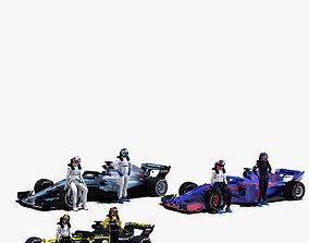 Formula 1 2018 Pack 3 3D model