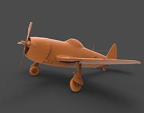 P-47 Thunderbolt 3D print model