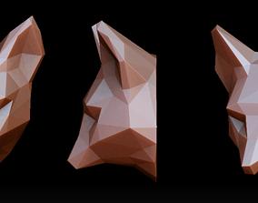 Fox head pendant 3D print model