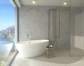 3D model Bathroom with a view