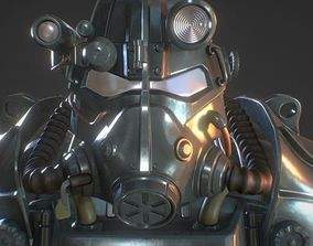 Fallout T-45D power armor for cosplay wearable 3D