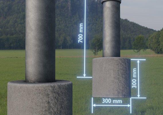 Groundwater monitoring well 2 version 2 (Blender-2.92 Eevee)