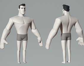 3D model Cartoon male character
