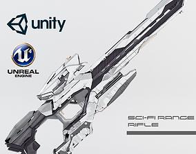 Sci-fi Range Rifle 3D asset VR / AR ready