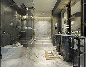 Modern luxury marble toilet 4