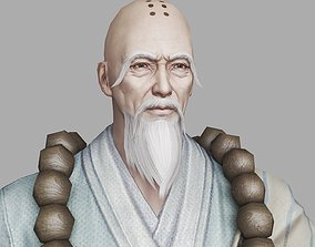 3D model of Old Monks in Ancient China realtime