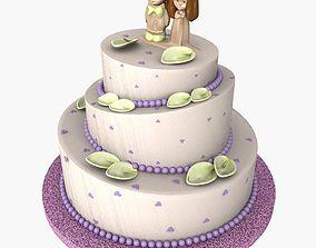 3D model Weeding Cake 01