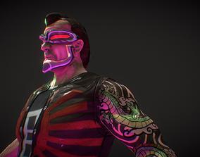Neo Noir - Hanzo - Punk Futuristic Character 3D model