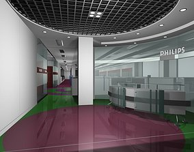 3D model entrance Luxury architectural Hall Lobby
