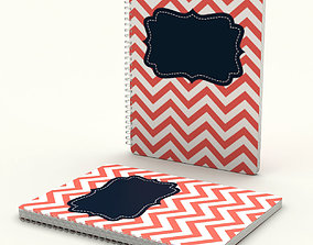 Stripped spiral notebook - closed 3D