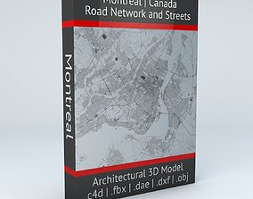 Montreal Road Network and Streets topological 3D model