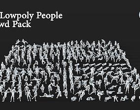 282 Lowpoly People Crowd Pack Set-09 3D