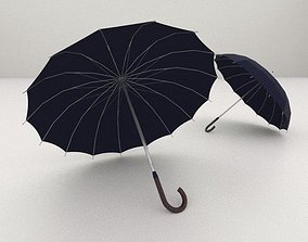 10 Umbrellas package 3D model low-poly