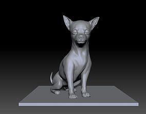 Sculpture of Chihuahua 3D print model