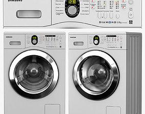 3D model washing machine Samsung WF8592FFS
