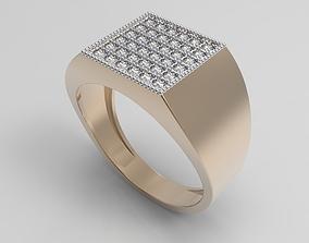 Golden classic male ring 3D print model
