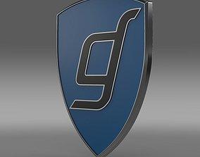 3D model Gentley Logo