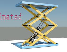3D model animated Scissor lift