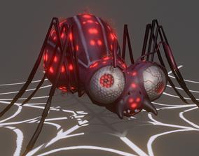 spider 3D model animated VR / AR ready