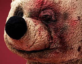 3D asset Beat Up Horror Bear Mask