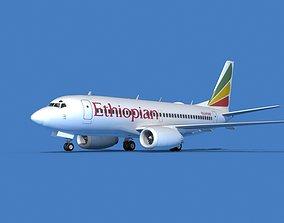 Boeing 737 MAX 7 Ethiopean Airlines 3D
