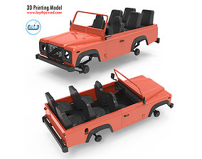 Land Rover Defender chassis 3D print model