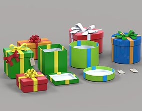 Gift Boxes 3d models winter