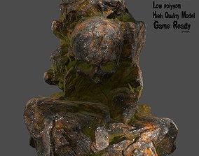 Skull Rock skull 3D asset realtime