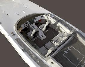 Mystic Powerboat C3800 WHITE 3D model powerboat