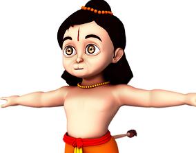 baby hanuman 3d model