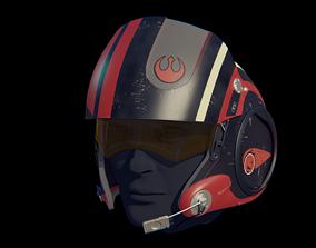 3D printable model X-Wing pilot helmet Poe Dameron from 1